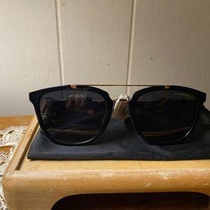 Carrera 127/S Black Round Sunglasses NWT